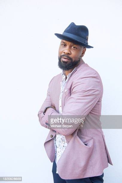 Bechir Sylvain poses for a portrait at The Artists Project Giveback Day on May 28, 2021 in Los Angeles, California.