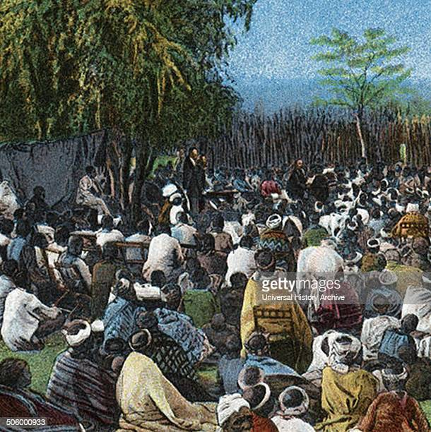 Bechuana Congregation addressed by David Livingstone of the London Missionary Society
