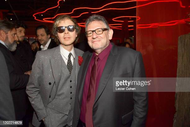 Beck and CEO Universal Music Group Sir Lucian Grainge attend the Universal Music Group's 2020 Grammy after party presented by Lenovo at Rolling...
