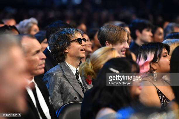 Beck and Cosimo Henri attend the 62nd Annual GRAMMY Awards at STAPLES Center on January 26 2020 in Los Angeles California