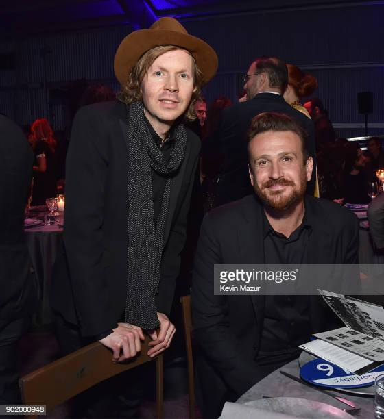 Beck and Jason Segel attend the 7th Annual Sean Penn Friends HAITI RISING Gala benefiting J/P Haitian Relief Organization on January 6 2018 in...
