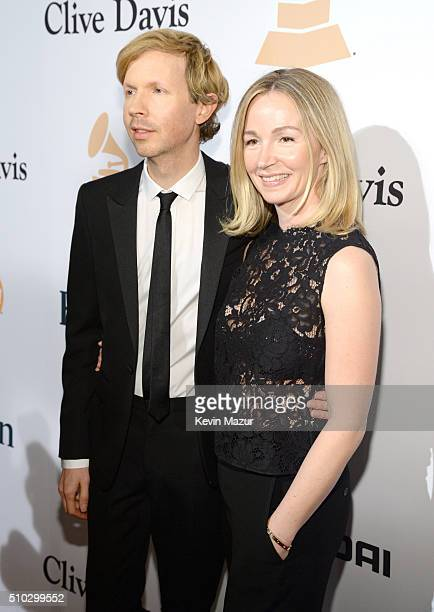 Beck and Marissa Ribisi attend the 2016 PreGRAMMY Gala and Salute to Industry Icons honoring Irving Azoff at The Beverly Hilton Hotel on February 14...