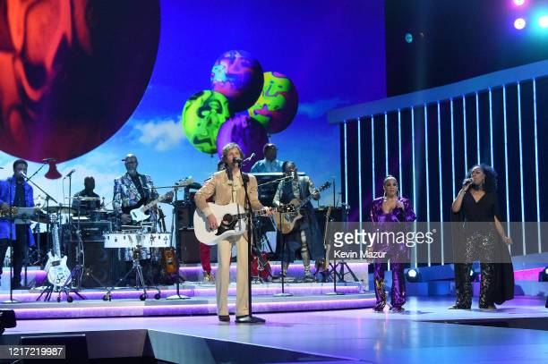 Beck and Sheila E perform onstage during the 62nd Annual GRAMMY Awards Let's Go Crazy The GRAMMY Salute To Prince on January 28 2020 in Los Angeles...
