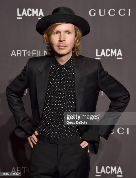 Beck arrives at the 2018 LACMA Art Film Gala at LACMA on November 3 2018 in Los Angeles California