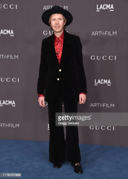 Beck arrives at the 2019 LACMA Art Film Gala Presented By Gucci on November 2 2019 in Los Angeles California