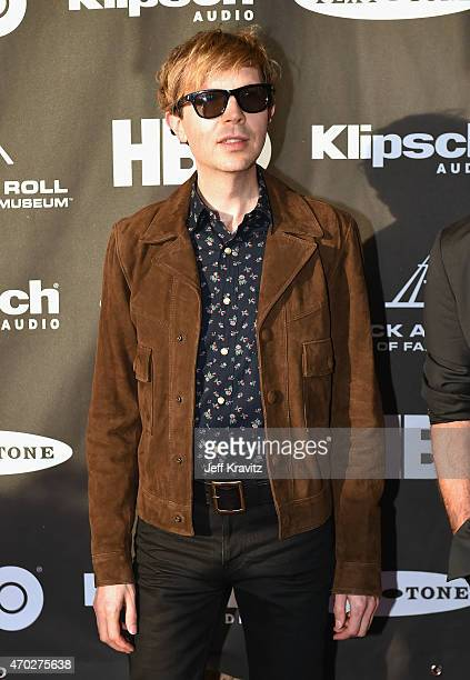 Beck attends the 30th Annual Rock And Roll Hall Of Fame Induction Ceremony at Public Hall on April 18 2015 in Cleveland Ohio