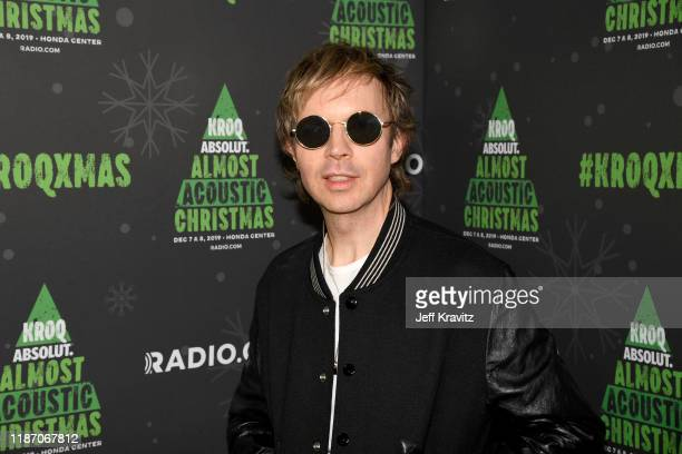 Beck backstage during KROQ Absolut Almost Acoustic Christmas 2019 at Honda Center on December 7 2019 in Anaheim California