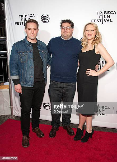 Beck Bennett Bobby Moynihan and Kate McKinnon attend the world premiere of Live From New York during the 2015 Tribeca Film Festival at The Beacon...