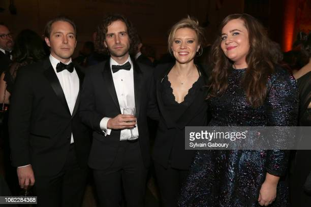Beck Bennett Kyle Mooney Kate McKinnon and Aidy Bryant attend American Museum Of Natural History's 2018 Museum Gala at American Museum of Natural...