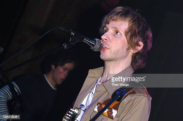 Beck during Beck in Concert at New York City's Hiro Ballroom April 15 2005 at Hiro Ballroom in New York City New York United States