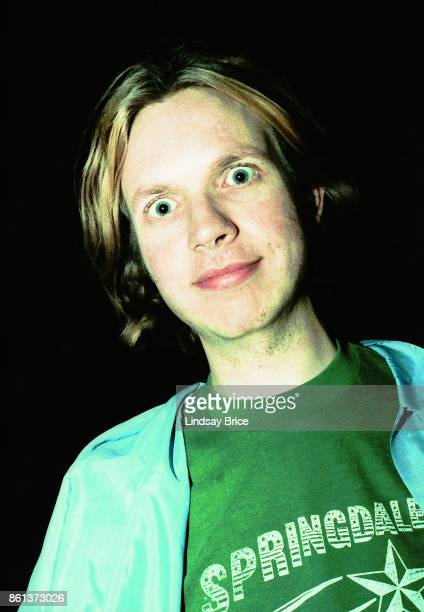 Beck goofs off for the camera outside Jabberjaw coffee house on Pico Boulevard before his performance there on May 24, 1994 in Los Angeles,...