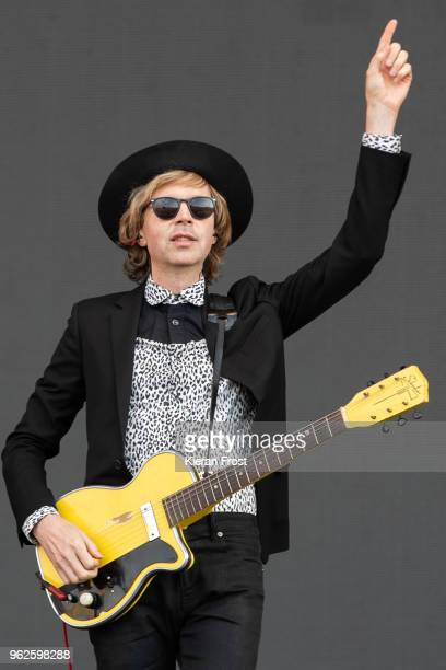 Beck Hansen performs at the BBC Biggest Weekend at Titanic Slipways on May 25 2018 in Belfast Northern Ireland
