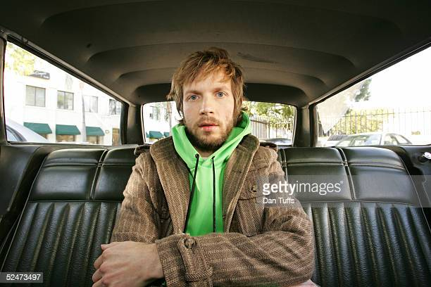 Beck outside his studio in Los Angeles February 16th 2005