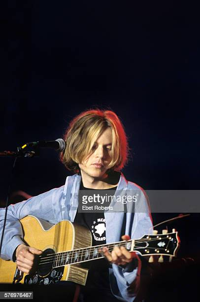 Beck performing at the Beale Street Music Festival in Memphis, Tennessee on May 8, 1994.