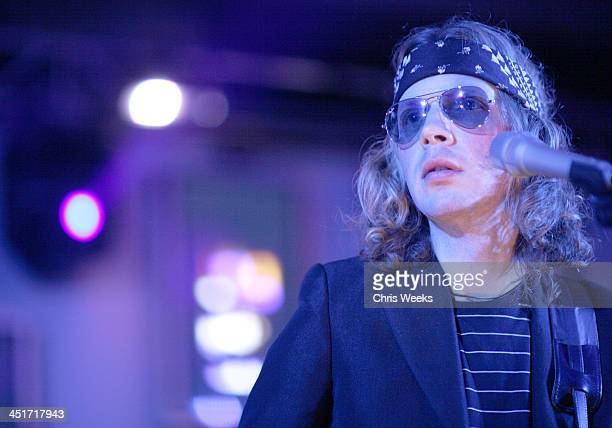 Beck performing during Helio Launch Party for the Drift by Samsung Inside Show in Los Angeles California United States