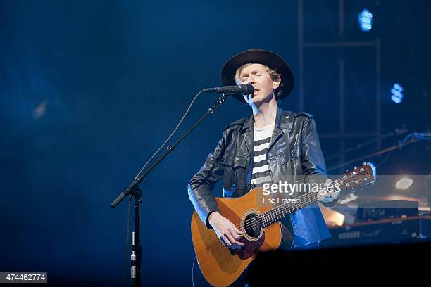 Beck performs at Day 1 of the Boston Calling Music Festival at Boston City Hall Plaza on May 22 2015 in Boston Massachusetts