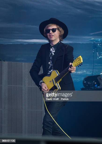 Beck performs at We Love Green Festival on June 2, 2018 in Paris, France.