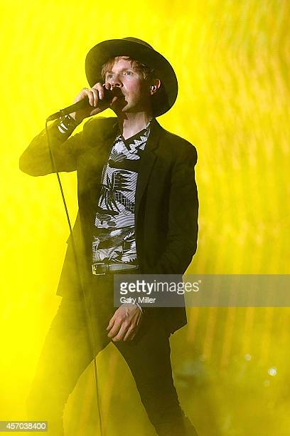 Beck performs during Austin City Limits Music Festival at Zilker Park on October 10 2014 in Austin Texas