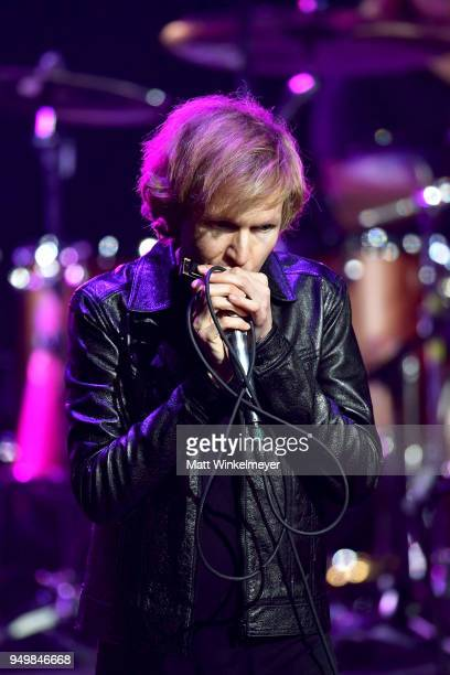 Beck performs during the 5th Annual Light Up The Blues Concert an Evening of Music to Benefit Autism Speaks at Dolby Theatre on April 21 2018 in...