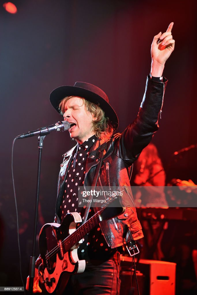 Beck performs for fans and Hilton Honors members as part of Music Happens Here at Spring Studios on December 9, 2017 in New York City.
