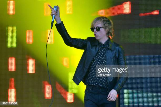 Beck performs live on stage during the All Points East festival at Victoria Park on May 27 2018 in London England