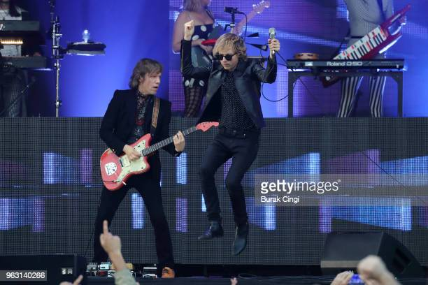 Beck performs on day 3 of All Points East Festival at Victoria Park on May 27 2018 in London England