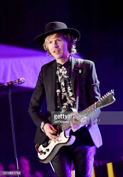 Beck performs on the Twin Peaks Stage during the 2018 Outside Lands Music And Arts Festival at Golden Gate Park on August 10 2018 in San Francisco...