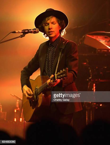 Beck performs onstage as part of Citi Sound Vault a new live music platform curated exclusively for Citi cardmembers at Hollywood Palladium on...