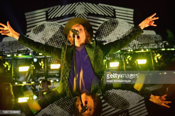 Beck performs onstage during 2018 LACMA Art Film Gala honoring Catherine Opie and Guillermo del Toro presented by Gucci at LACMA on November 3 2018...