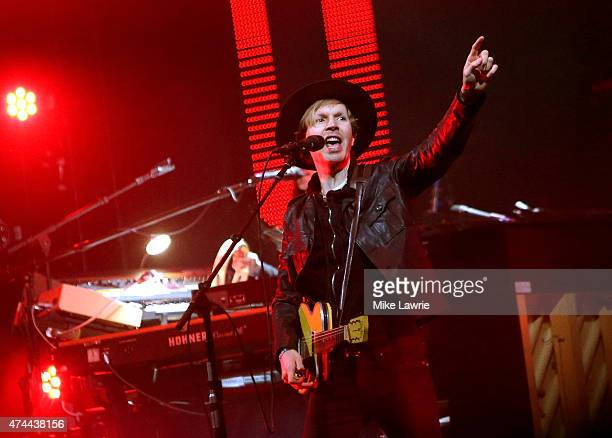 Beck performs onstage during Boston Calling Music Festival Day 1 at Boston City Hall Plaza on May 22 2015 in Boston Massachusetts