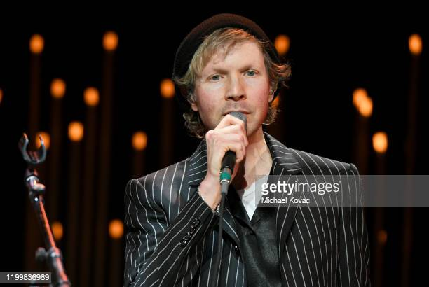 Beck performs onstage during CORE Gala A Gala Dinner to Benefit CORE and 10 Years of LifeSaving Work Across Haiti Around the World at Wiltern Theatre...