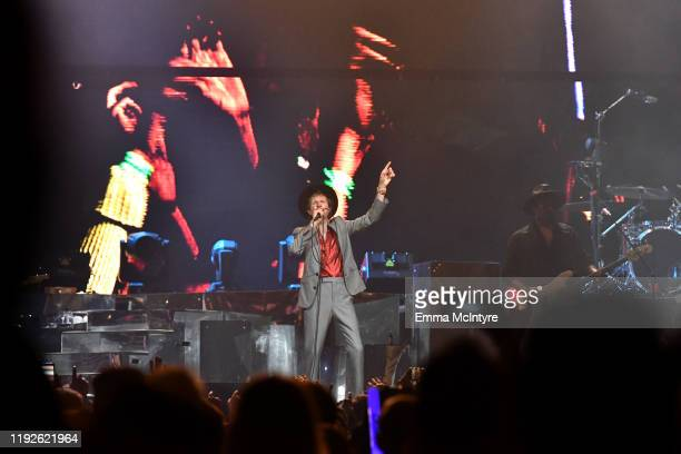 Beck performs onstage during KROQ Absolut Almost Acoustic Christmas 2019 at Honda Center on December 07 2019 in Anaheim California
