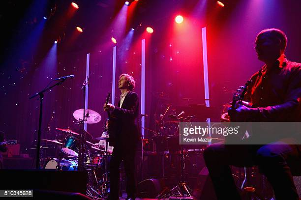 Beck performs onstage during the 2016 PreGRAMMY Gala and Salute to Industry Icons honoring Irving Azoff at The Beverly Hilton Hotel on February 14...