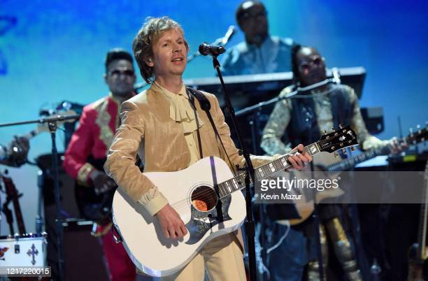 Beck performs onstage during the 62nd Annual GRAMMY Awards Let's Go Crazy The GRAMMY Salute To Prince on January 28 2020 in Los Angeles California