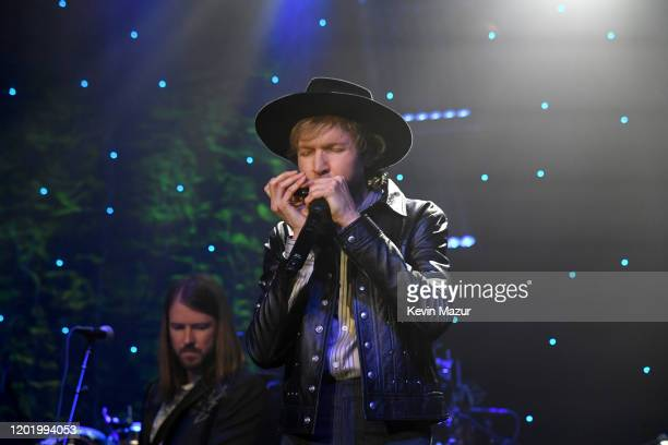 Beck performs onstage during the PreGRAMMY Gala and GRAMMY Salute to Industry Icons Honoring Sean Diddy Combs on January 25 2020 in Beverly Hills...