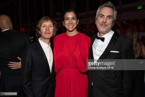 Beck Radhika Jones and Alfonso Cuaron attends the 2019 Vanity Fair Oscar Party hosted by Radhika Jones at Wallis Annenberg Center for the Performing...