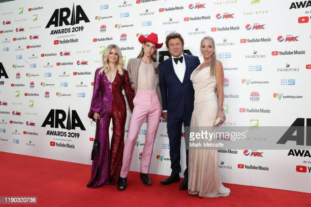 Beck Wilson Christian Wilkins Richard Wilkins and Virginia Burmeister arrive for the 33rd Annual ARIA Awards 2019 at The Star on November 27 2019 in...