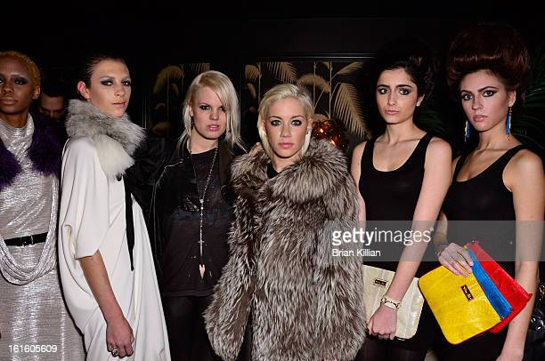 Becka Diamond and Amanda Leigh Dunn attend the Scandinavian Showcase Launch Party during Fall 2013 MercedesBenz Fashion Week at No 8 on February 12...