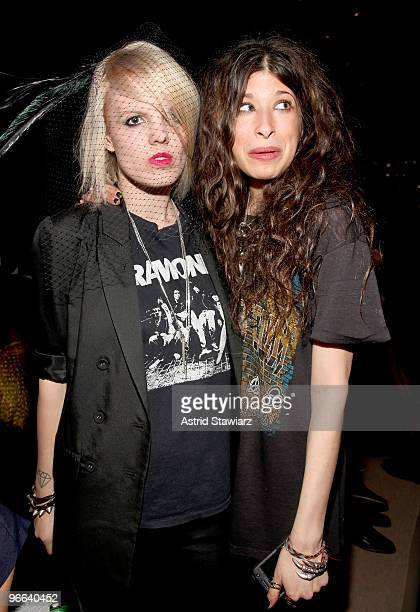 Becka Diamond and designer Pamela Love attend Charlotte Ronson Fall 2010 Fashion Show presented by TRESemme during MercedesBenz Fashion Week at The...