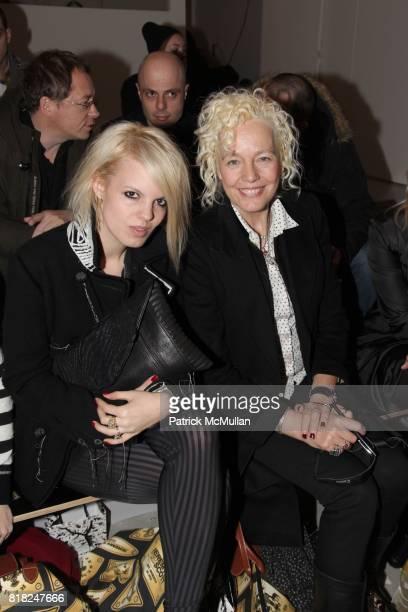 Becka Diamond and Ellen von Unwerth attend JEREMY SCOTT Fall 2010 Collection at Milk Studios on February 17 2010 in New York City
