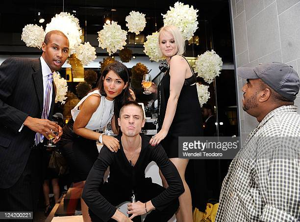 Becka Diamond and guests at the OC Concept Store during Fashion's Night Out on September 8 2011 in New York City