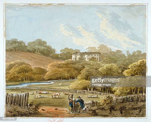 Beckenham Place and grounds, Beckenham, Kent, c1790. View with cattle and figures. Beckenham Place Park is now in the London borough of Lewisham.