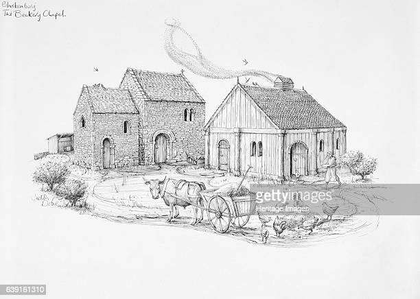 Beckery Chapel Glastonbury c5th6th century Somerset The Beckery Chapel Later AngloSaxon Reconstruction drawing The chapel is connected to legendary...