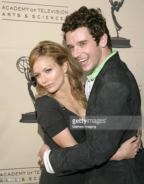 Becki Newton and Michael Urie during The Academy of Television Arts Sciences Presents An Evening with 'Ugly Betty' Arrivals at Leonard H Goldenson...