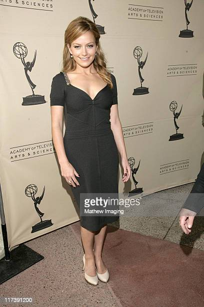 Becki Newton during The Academy of Television Arts Sciences Presents An Evening with Ugly Betty Arrivals at Leonard H Goldenson Theatre in North...