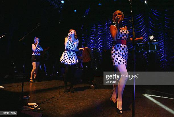 Becki Pipette Rose PipetteGwenno Pipette of The Pipettes performs onstage at Shepherds Bush Empire on April 18 2007 in London England