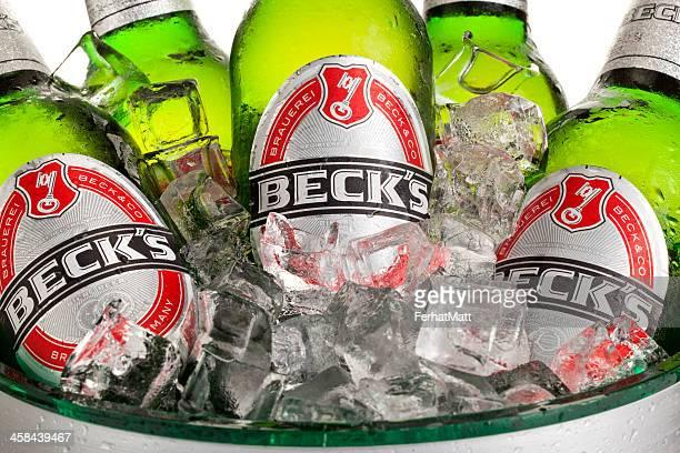 Beck's Bottles in Ice Bucket