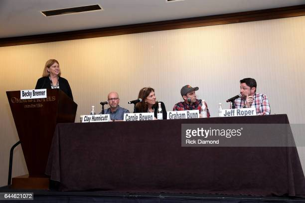 Becky Brenner of Albright O'Malley Brenner Consulting Clay Hunnicutt of Big Loud Records Carole Bowen of Adrienne Arsht Center for the Performing...