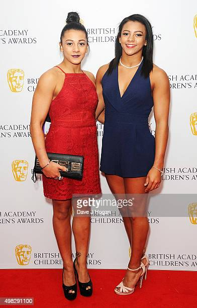 Becky Downie and Ellie Downie attend the British Academy Children's Awards at The Roundhouse on November 22 2015 in London England