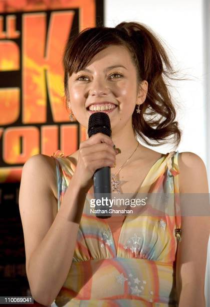 Becky during 'We Will Rock You' Musical Tokyo KickOff Event at Koma Stadium in Tokyo Japan